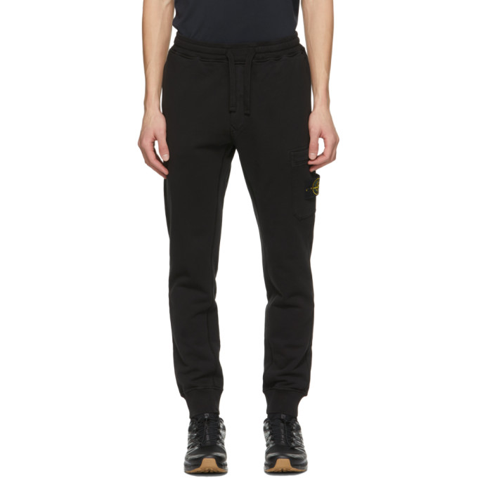 Stone Island STONE ISLAND BLACK FLEECE LOUNGE PANTS
