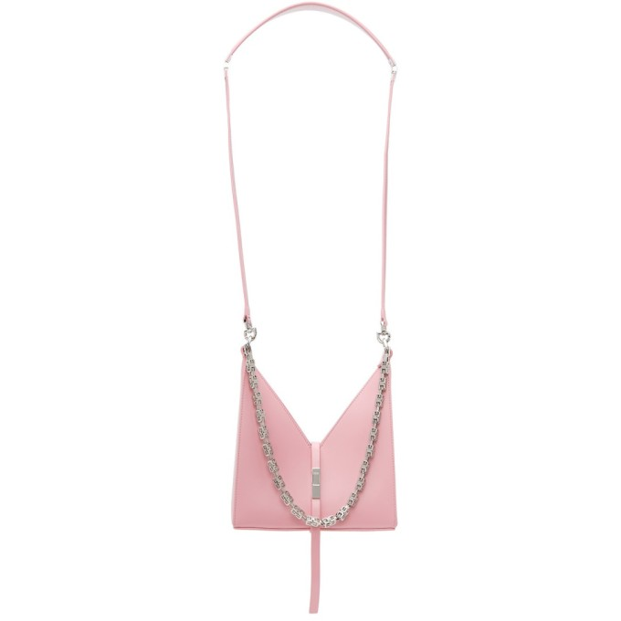 Givenchy Pink Mini Cut-out Box Chain Bag In 661 Baby Pink
