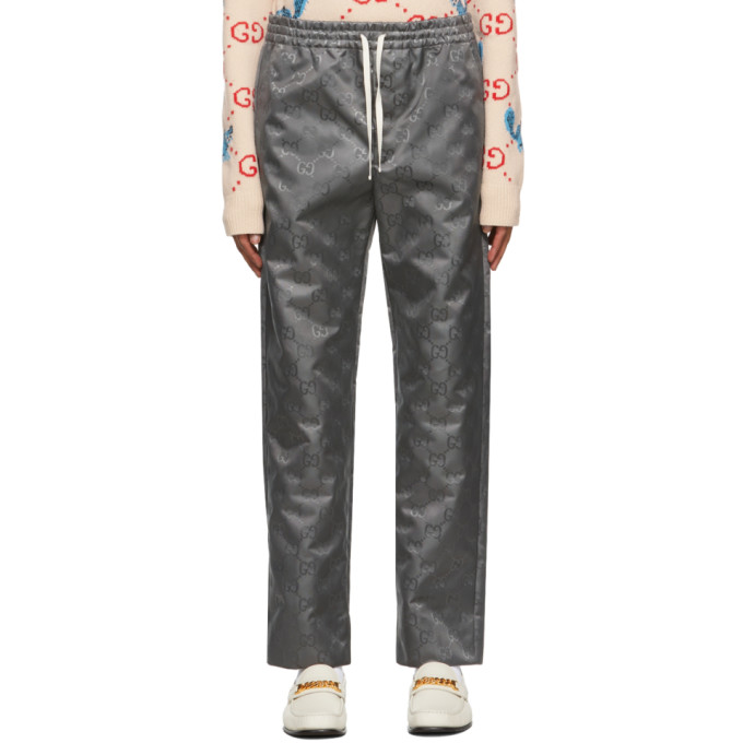 Gucci Gray Off The Grid Jogging Trousers In Grey