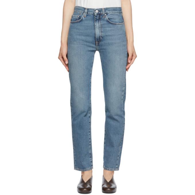 Totême Blue Regular Fit Jeans In 425 Vintage Wash
