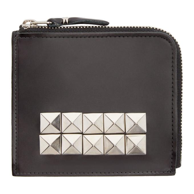 Comme des Garçons Wallets Black Leather Studded Wallet
