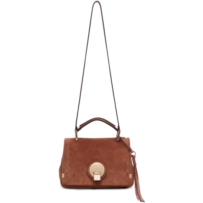 CHLOÉ CHLOE BROWN SUEDE SMALL INDY BAG