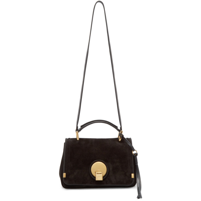 CHLOÉ CHLOE BLACK SUEDE SMALL INDY BAG