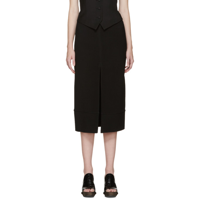 chloe female chloe black cady slit skirt
