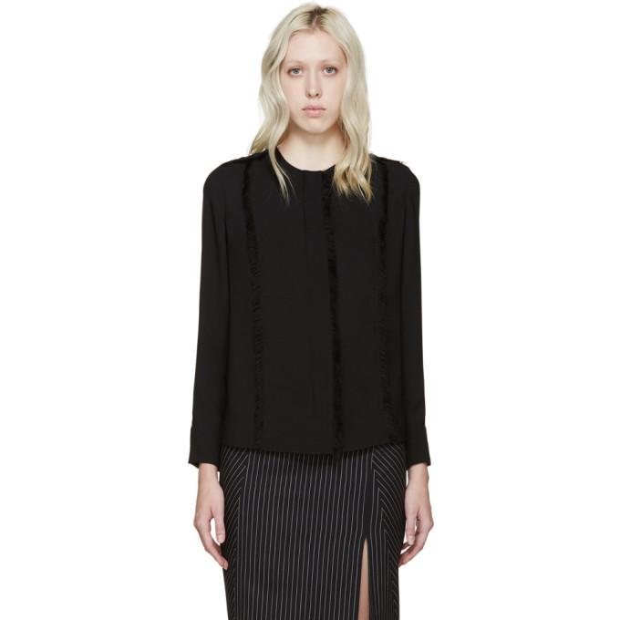 altuzarra female altuzarra black silk lemiko blouse