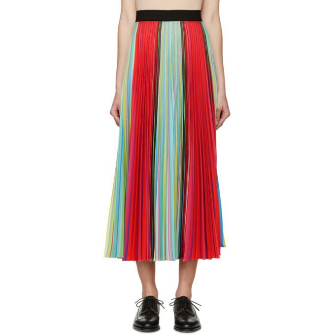 mary katrantzou female mary katrantzou multicolored striped pleated skirt