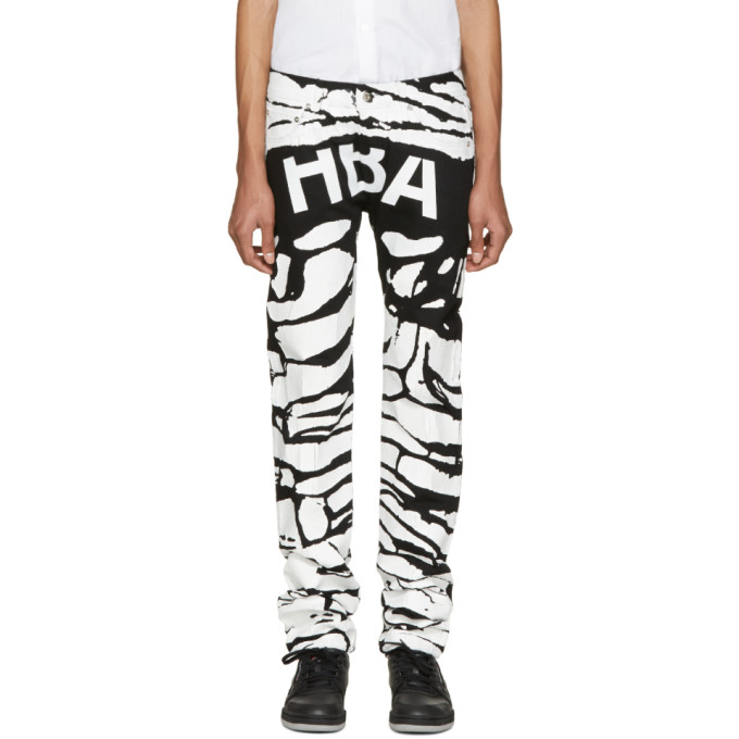 Image of Hood by Air Black & White Peel Regular 2 Jeans