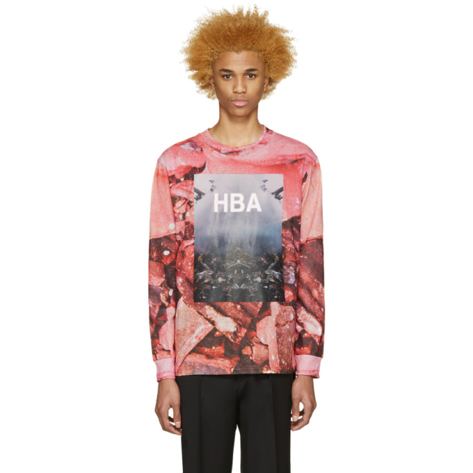 Image of Hood by Air Pink Overcome T-Shirt