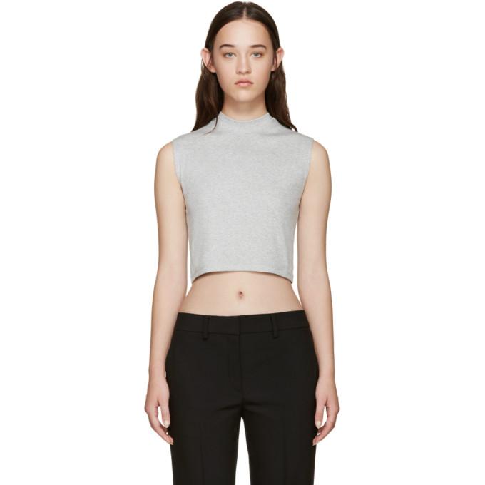 nomia female nomia grey ribbed sleeveless tshirt