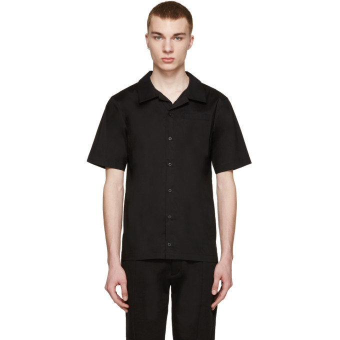 Image of D by D SSENSE Exclusive Black Bowling Shirt