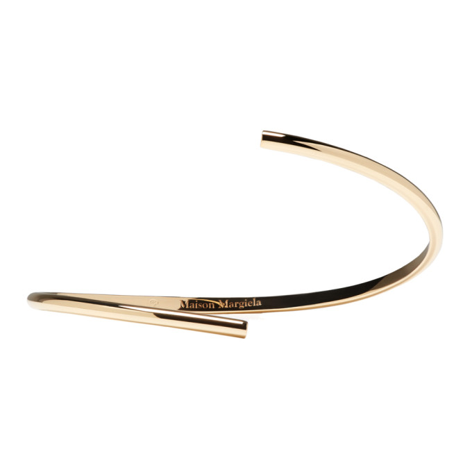 Image of Maison Margiela Fine Jewellery Gold Split Alliance Bracelet