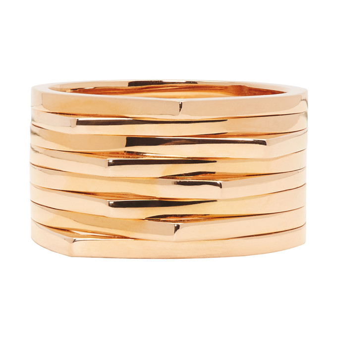 Image of Repossi Rose Gold 8 Rows Antifer Ring
