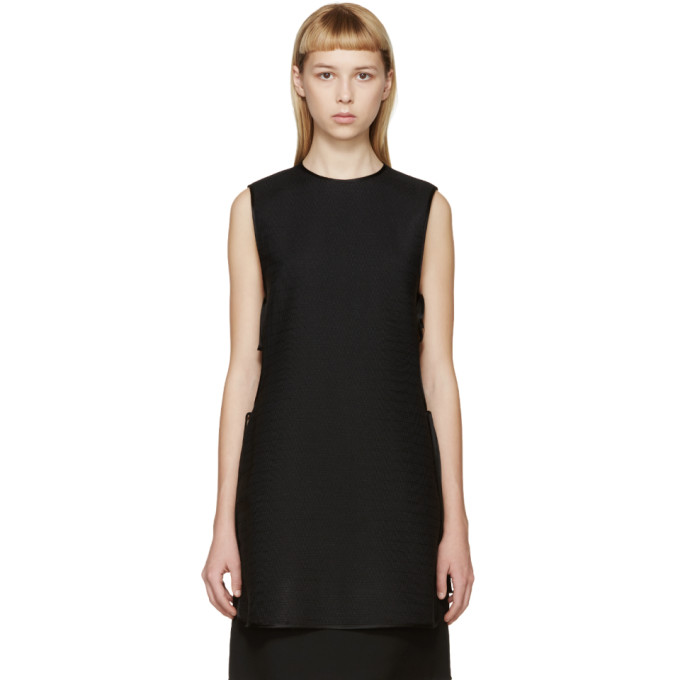 Image of Rosetta Getty Black Side-Tie Tunic
