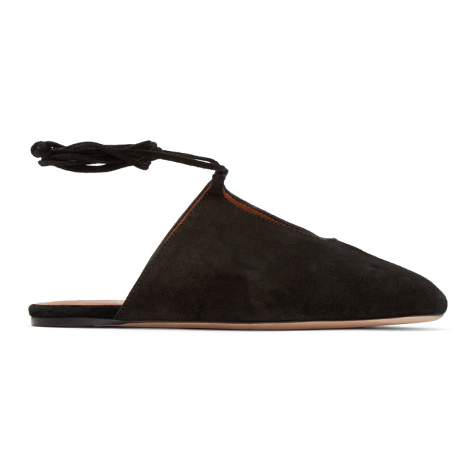 rosetta getty female rosetta getty black suede laceup flats