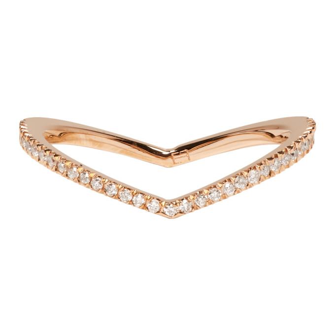 Image of Eva Fehren Rose Gold Diamond Private Ring