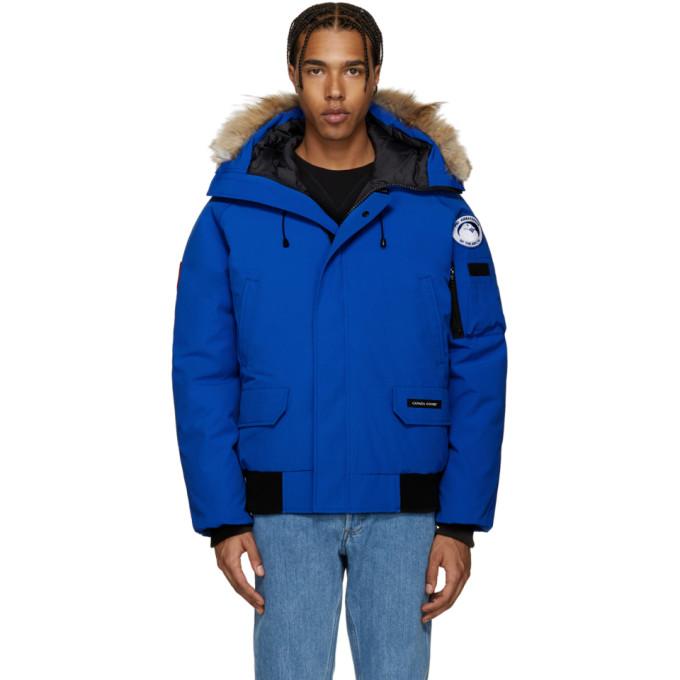 Image of Canada Goose Blue Down PBI Chilliwack Jacket