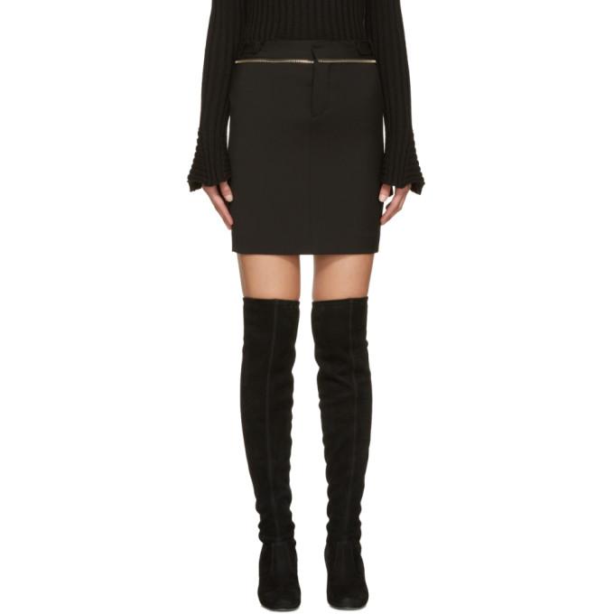 dsquared2 female dsquared2 black zippered miyako miniskirt