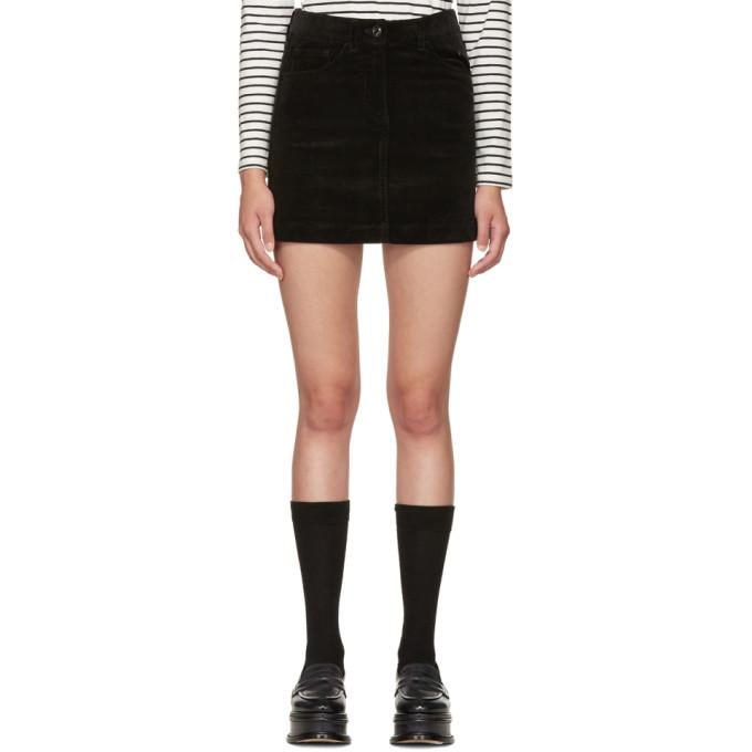 ymc female ymc black corduroy miniskirt