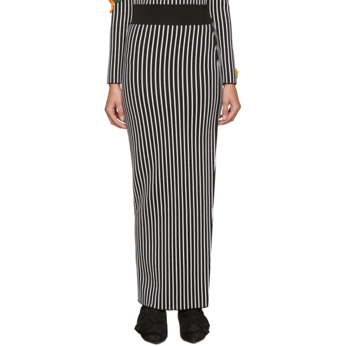 Christopher Kane Black & White Striped Skirt