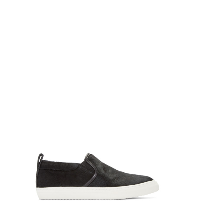 Image of Marc Jacobs Black Calf-Hair Mercer Sneakers