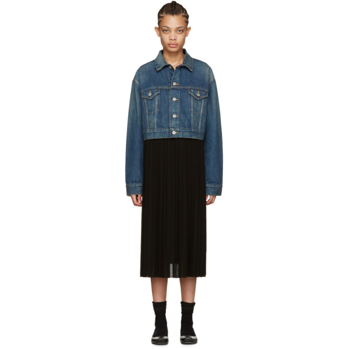 Junya Watanabe Indigo Denim Contrast Dress