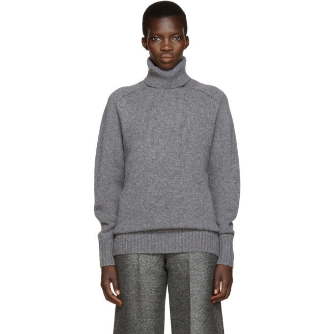 CHLOÉ CHLOE GREY CASHMERE TURTLENECK