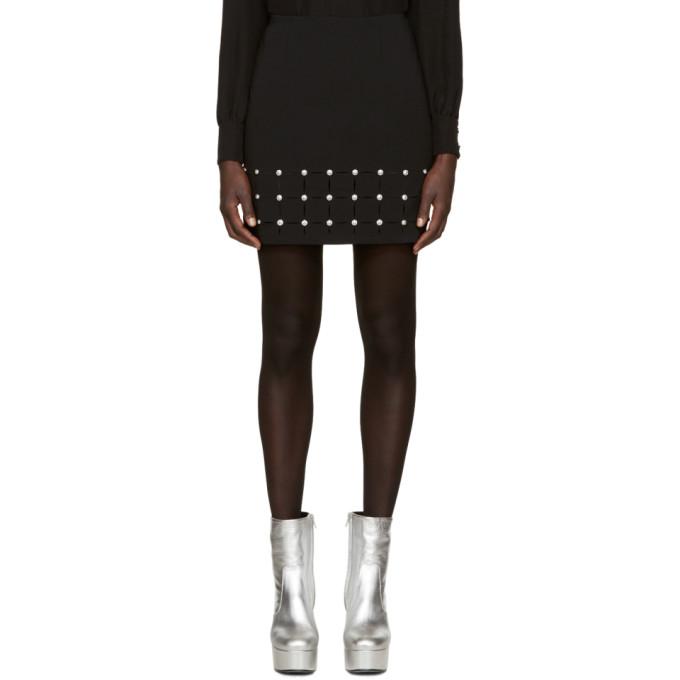 versace versus female versus black cutout miniskirt