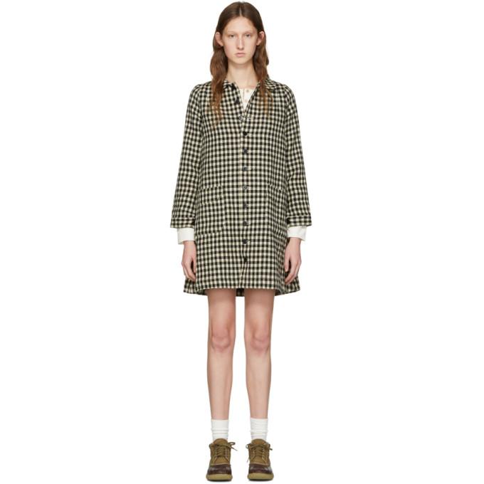 Image of Visvim Black Check Impressionist Dress