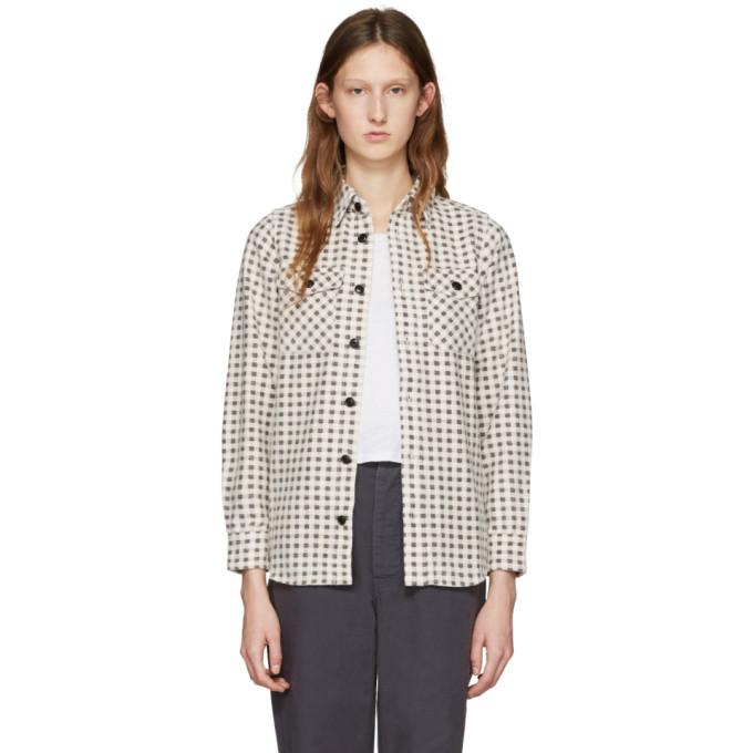 Image of Visvim Beige Flannel Gingham Shirt