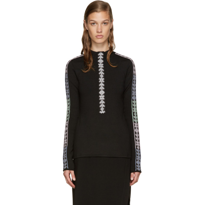 Image of Peter Pilotto Black Band Mock Neck Sweater