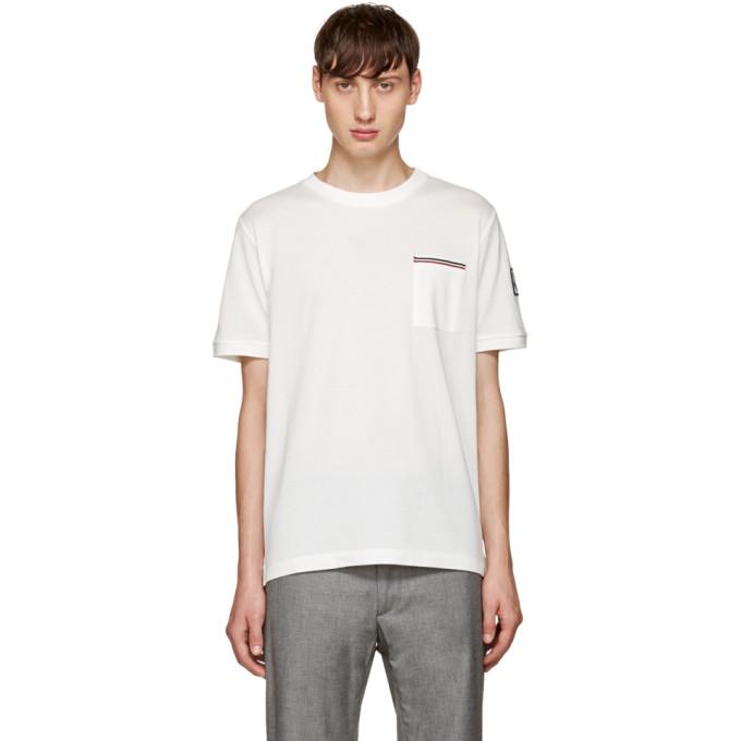 Image of Moncler Gamme Bleu White Pocket T-Shirt