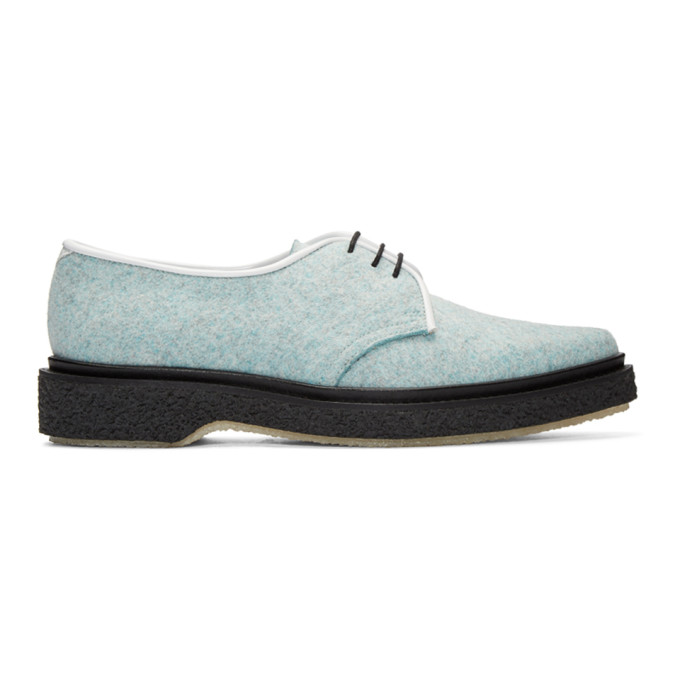 Image of Adieu Blue Felted Wool Derbys