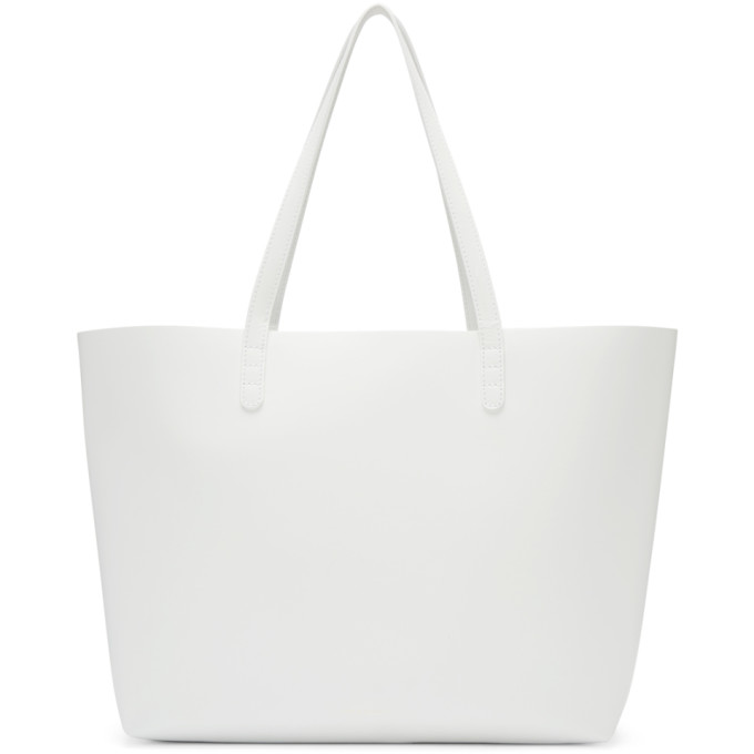 Mansur Gavriel White Leather Large Tote