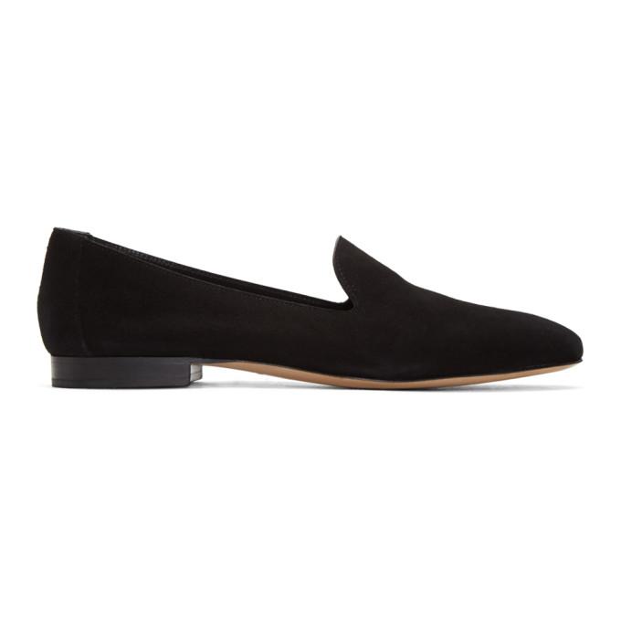 553f9239f15 Mansur Gavriel Black Suede Venetian Loafers