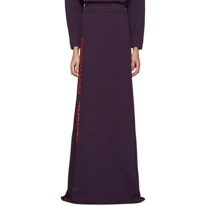 vetements female vetements ssense exclusive purple sexual fantasies skirt