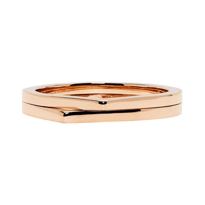 Image of Repossi Rose Gold 2 Rows Antifer Phalanx Ring