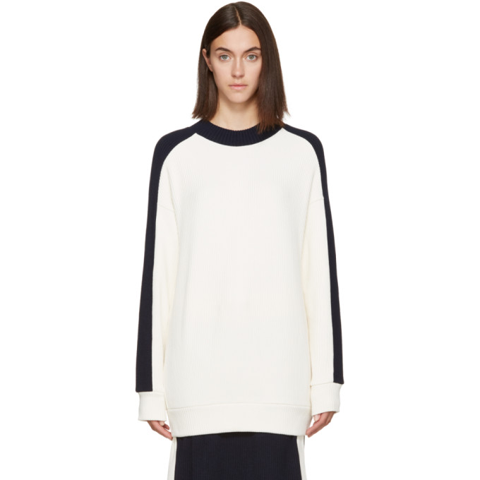 Image of Atea Oceanie Ivory Ribbed Pullover
