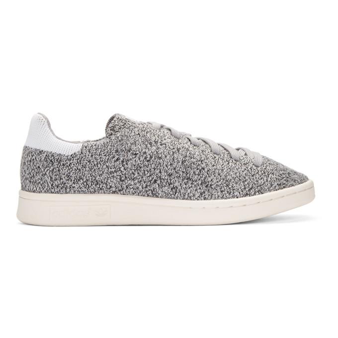 super popular f67bd 57e3e ADIDAS ORIGINALS Grey Primeknit Stan Smith Sneakers
