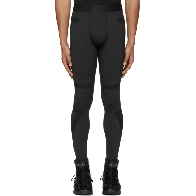 Image of Y-3 SPORT Black TechFit® Long Tights