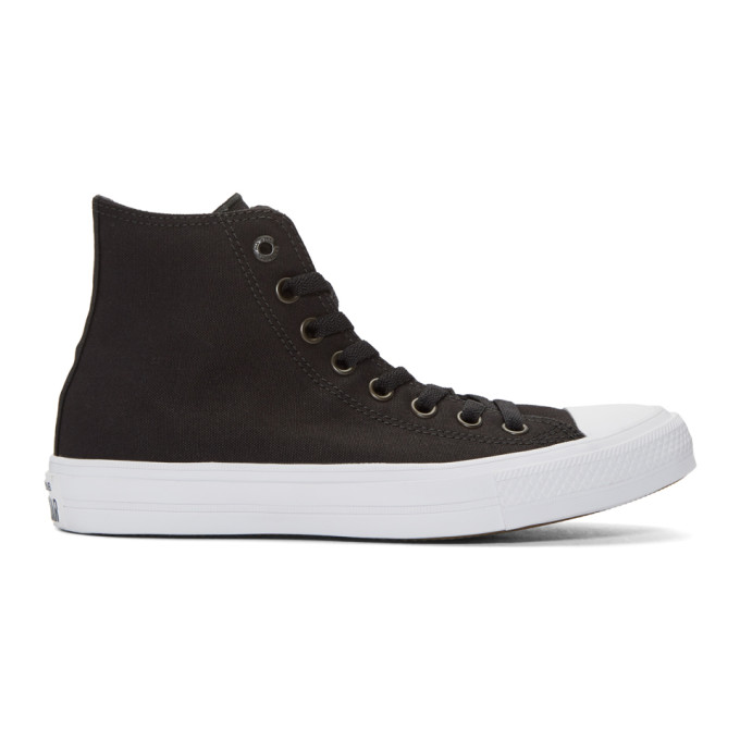 Image of Converse Black & White Chuck Taylor All Star II High-Top Sneakers