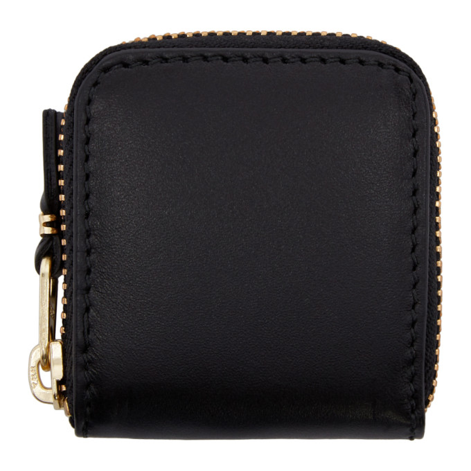 Comme des Garçons Wallets Black Small Leather Zip Around Pouch
