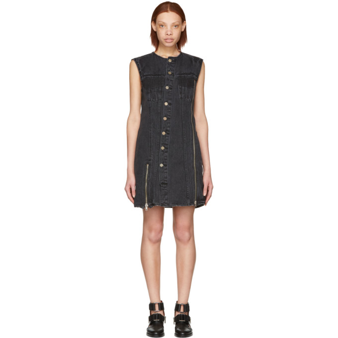 31 Phillip Lim Black Asymmetric Denim Dress