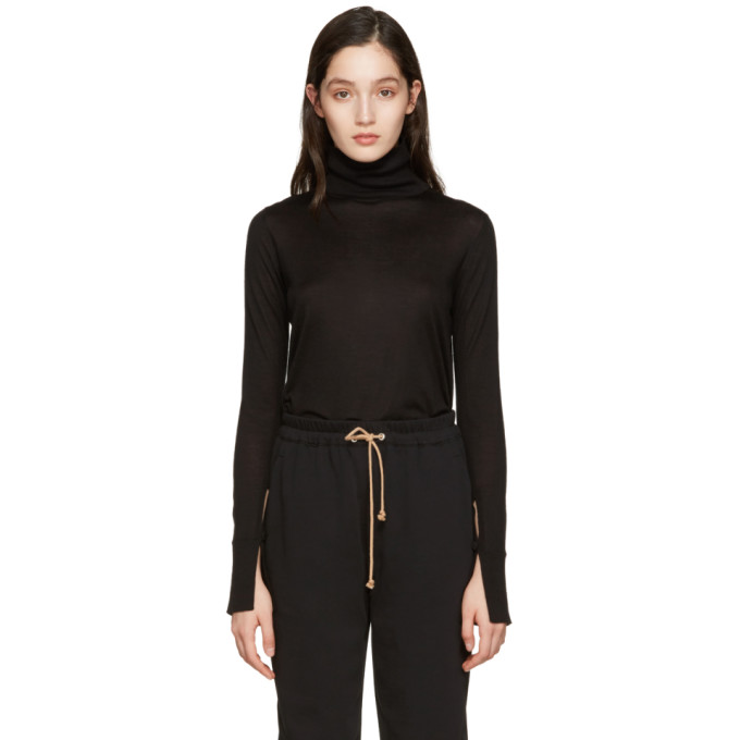 CHLOÉ CHLOE BLACK WOOL TURTLENECK
