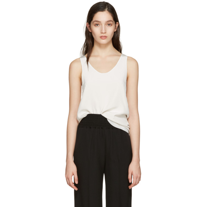 CHLOÉ CHLOE WHITE SILK TOP