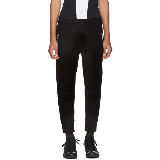 NEIL BARRETT BLACK CLASSIC BIKER LOUNGE PANTS