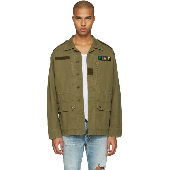 Saint Laurent Green Sweet Dreams Military Jacket