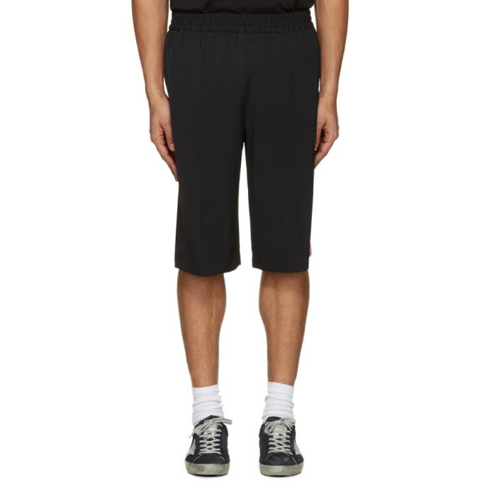MSGM Black Striped Track Shorts