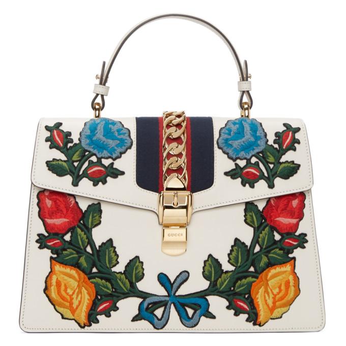 Gucci White Medium Sylvie Bag