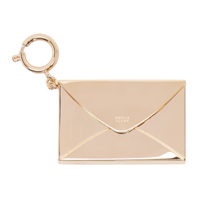 Image of Sophie Hulme Gold Stationary Envelope Keychain