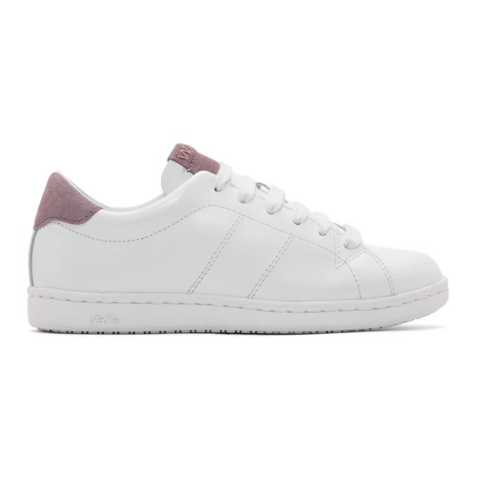 Visvim White & Purple Foley-Folk Sneakers